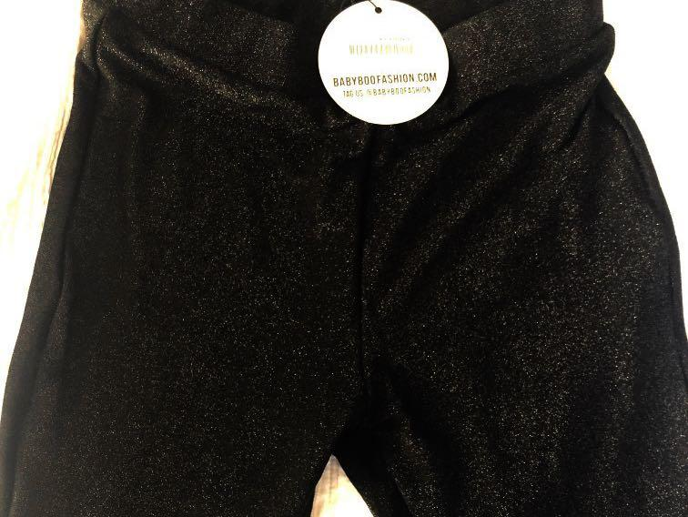 Babyboo Hailee black sparkle leggings brand new with tags;