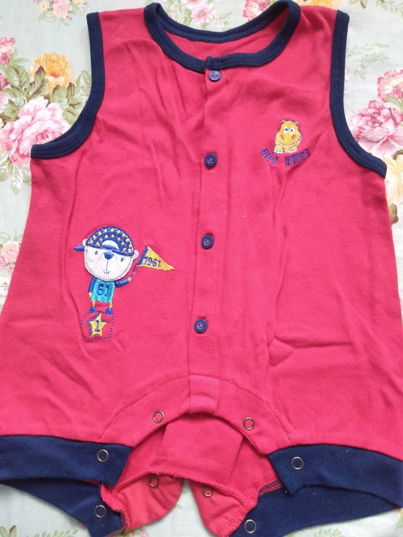 Baju bayi tanpa lengan 3-6bln