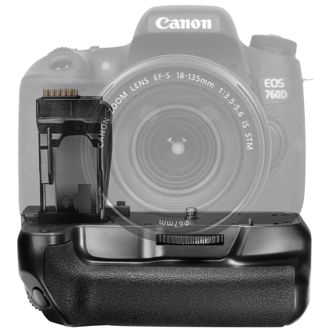 Battery Grip for Canon EOS Rebel T6I/750D and T6S/760D