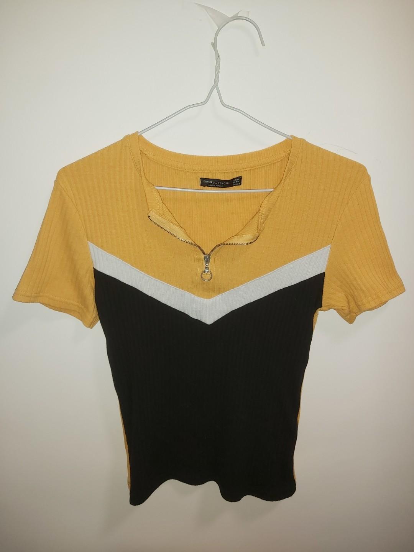 Bershka yellow top