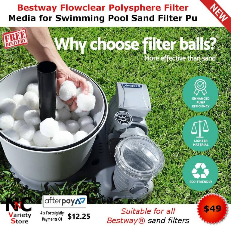 Bestway Flowclear Polysphere Filter Media for Swimming Pool Sand Filter Pu