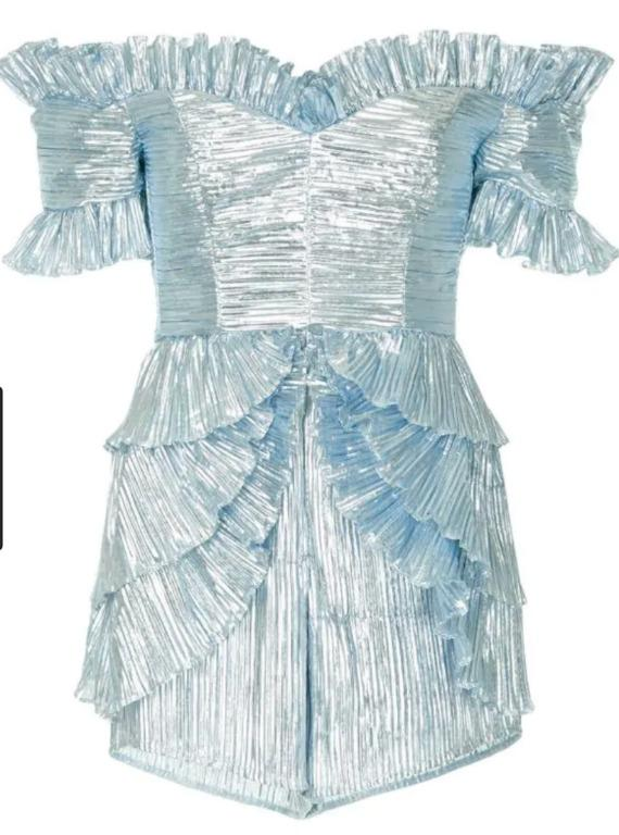 BNWT ALICE MCCALL BLUE WASN'T BORN TO FOLLOW PLAYSUIT - SIZE 8 AU/4 US (RRP $490)
