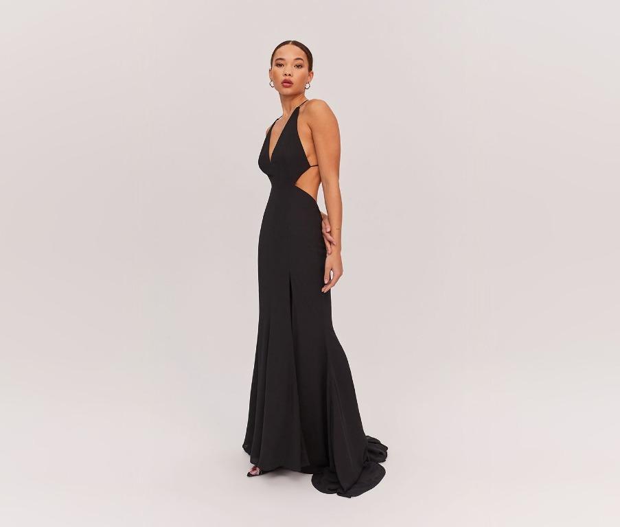 BNWT FAME & PARTNERS BLACK NIKITA FORMAL DRESS - SIZE 6 AU(RRP $289)