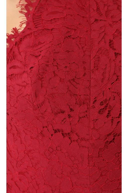 BNWT FAME & PARTNERS BURGUNDY DRAGON EYES DRESS - SIZE 10 AU (RRP $425)