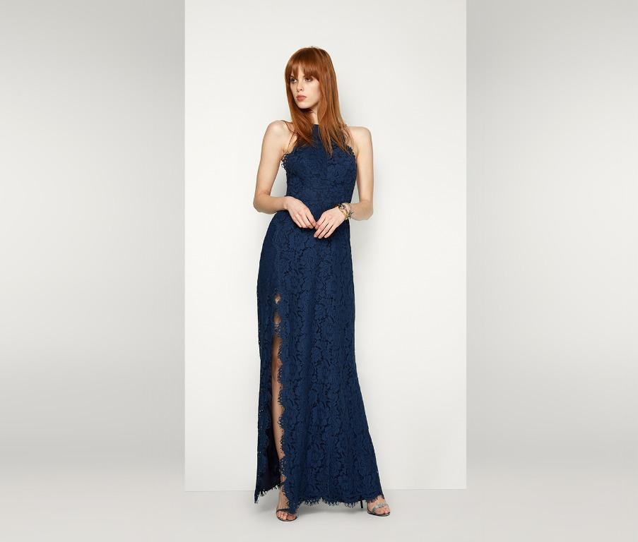 BNWT FAME & PARTNERS NAVY CAPRICORN DRESS - SIZE 6 AU (RRP $365)