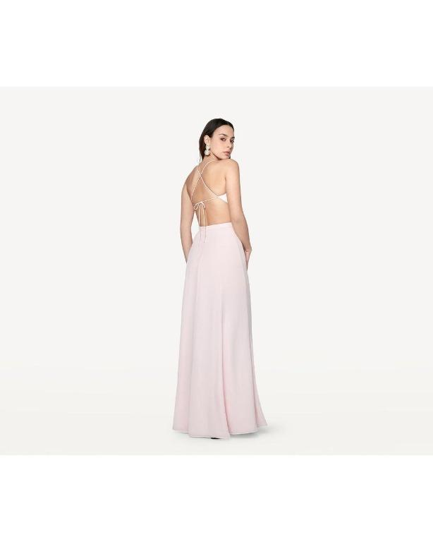 BNWT FAME & PARTNERS PINK BACKLESS STARLET DRESS - SIZE 6 AU (RRP $259)