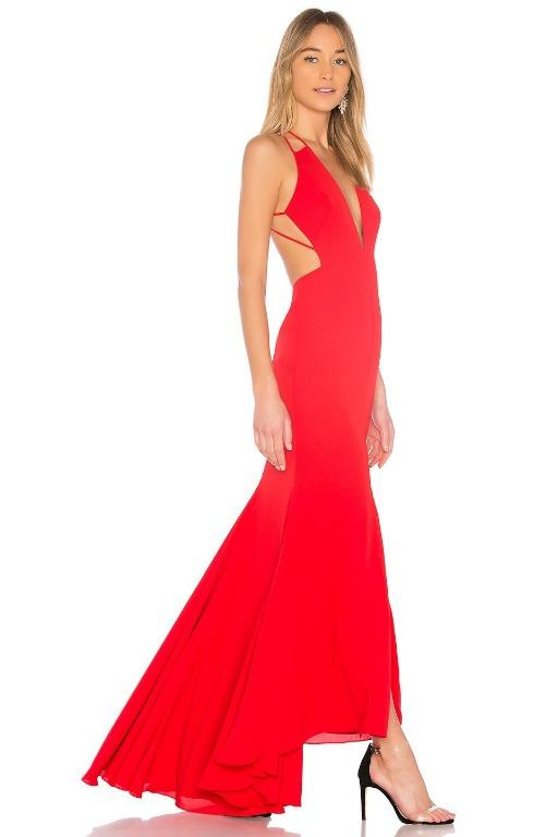 BNWT FAME & PARTNERS RED SURREAL DREAMER GOWN - SIZE 6 AU/2 US(RRP $289)