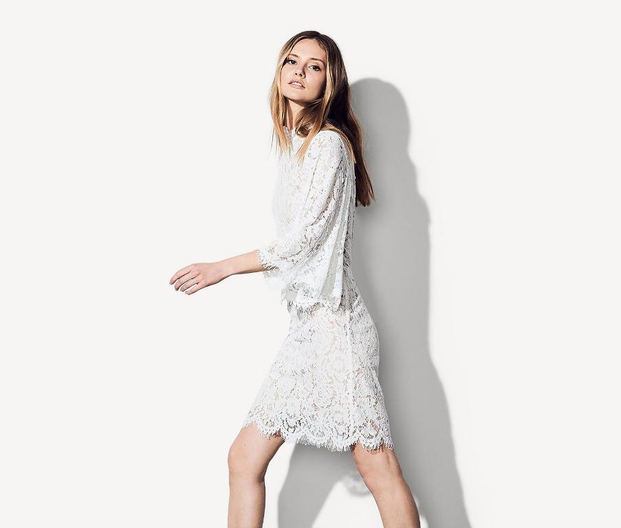 BNWT FAME & PARTNERS WHITE VERONIKA DRESS - SIZE 4 AU/0 US (RRP $389)