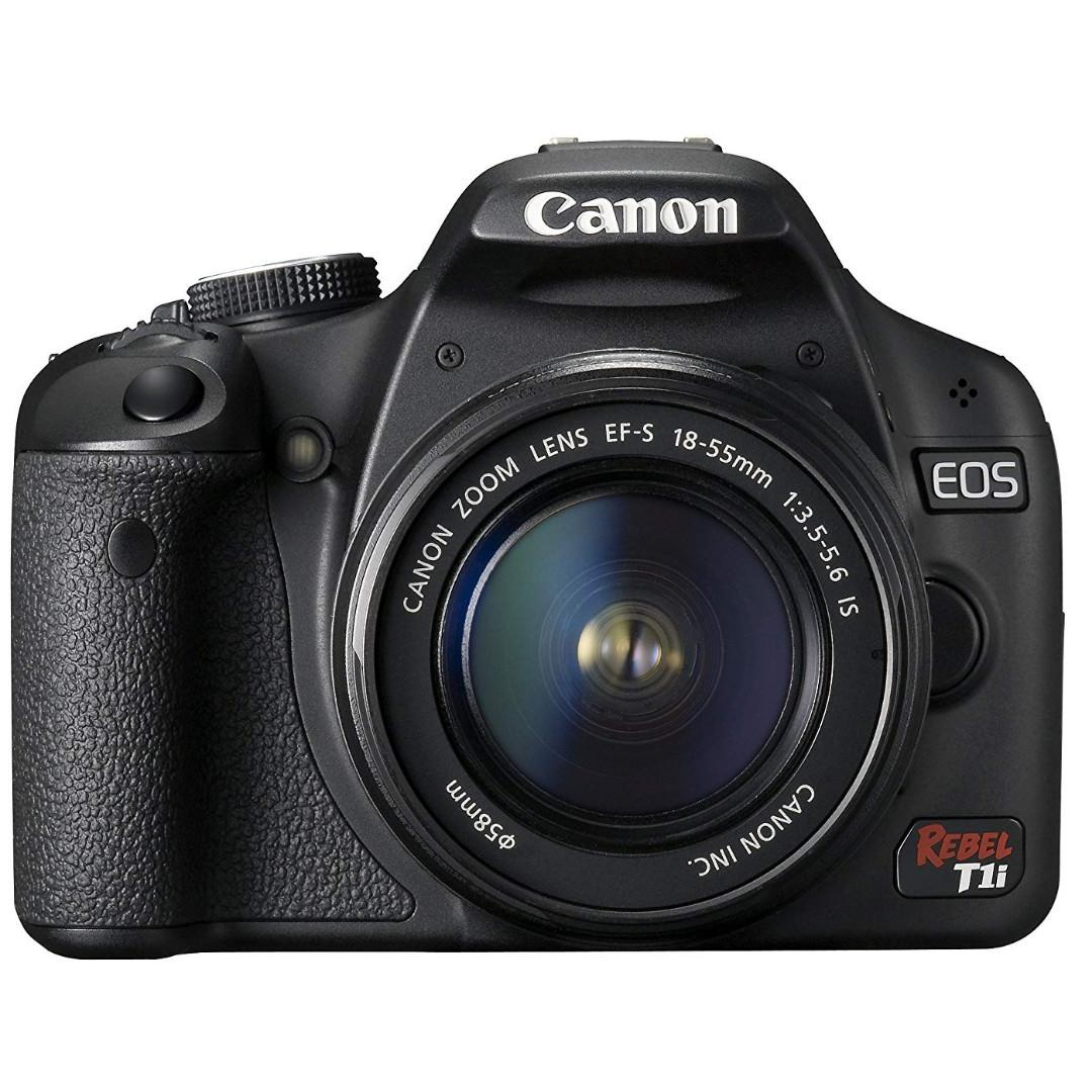 Canon EOS Rebel T1i DSLR Camera with EF-S 18-55mm f/3.5-5.6 is Lens