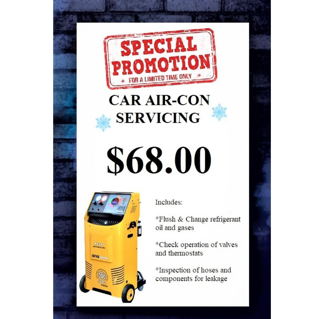 CAR AIR-CON SERVICING PROMOTION