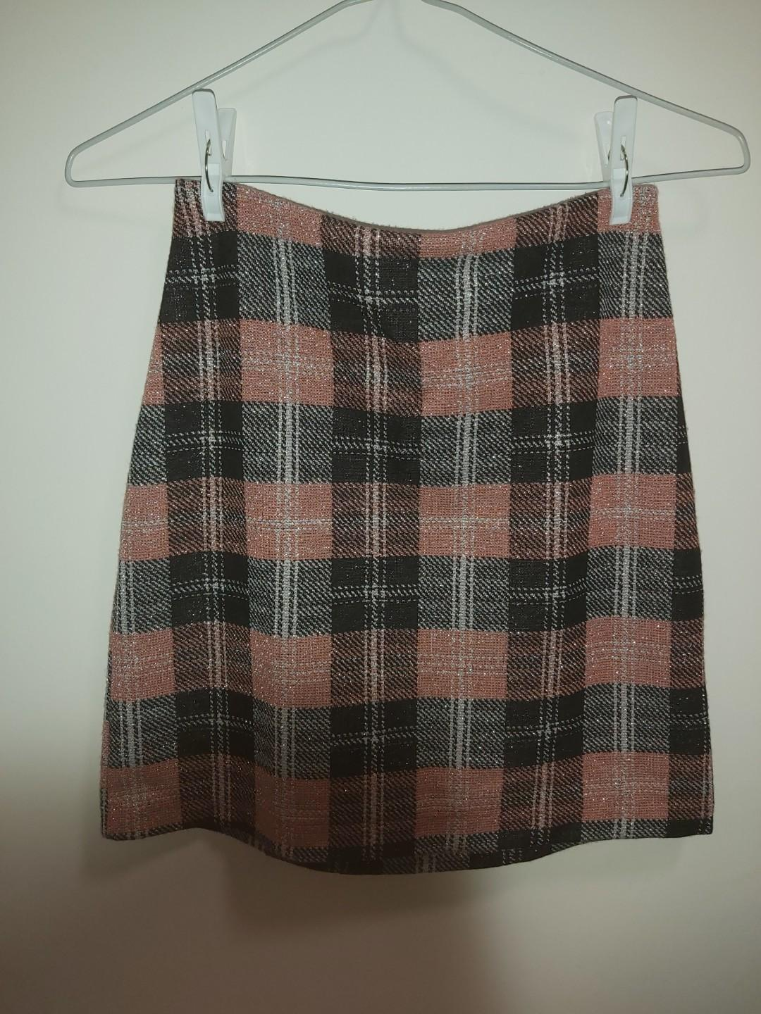 Checked Skirt h&m