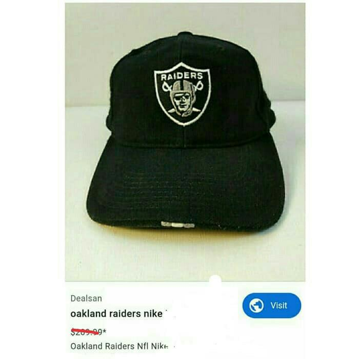 #ChopeCarousell Vtg Oakland RAIDERS NFL x NIKE Fitted Hat
