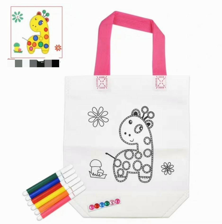DIY colouring bag,  kid birthday party goodies item