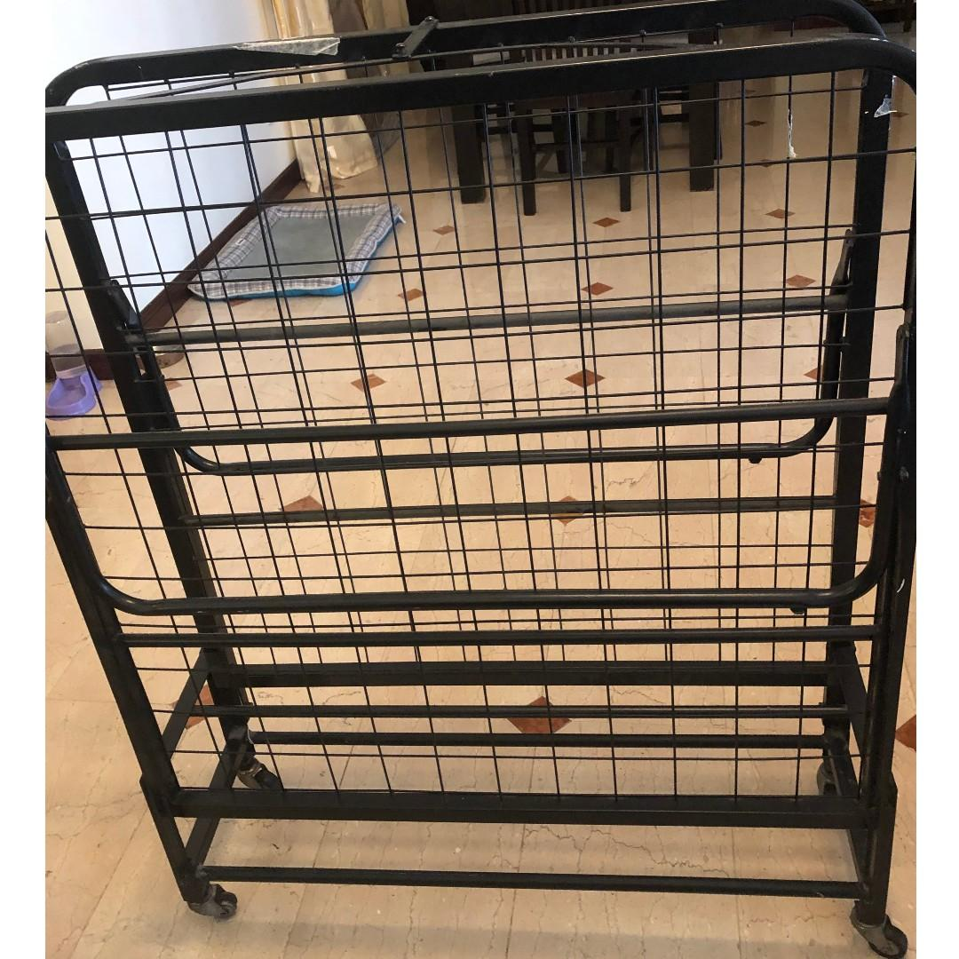 Foldable metal bed frame and Mattress available