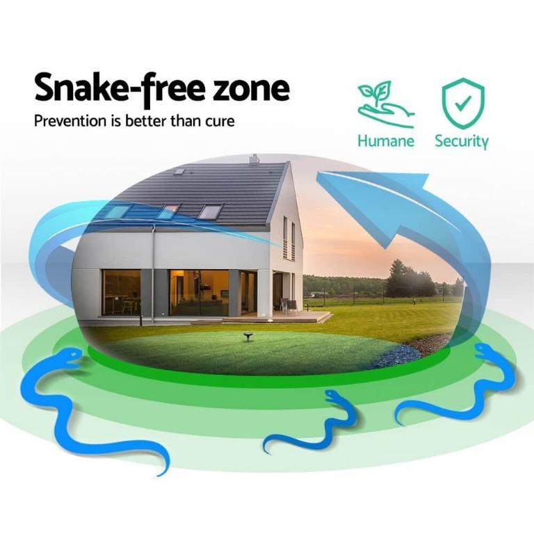 Gardeon 6 X Solar Snake Repeller Powered Snake Repellers Pest Control