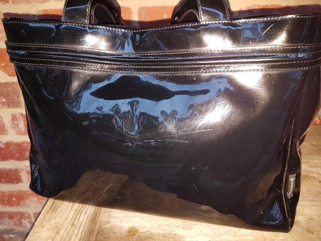 Giorgio Armani Jeans All Black Handbag Waterproof Material