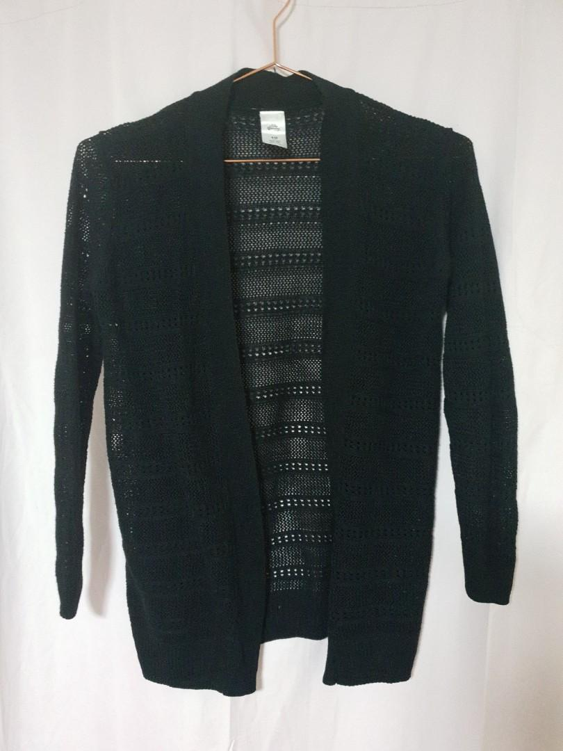 Girls size 10, new crochet top, cropped sweater and lil black cardi