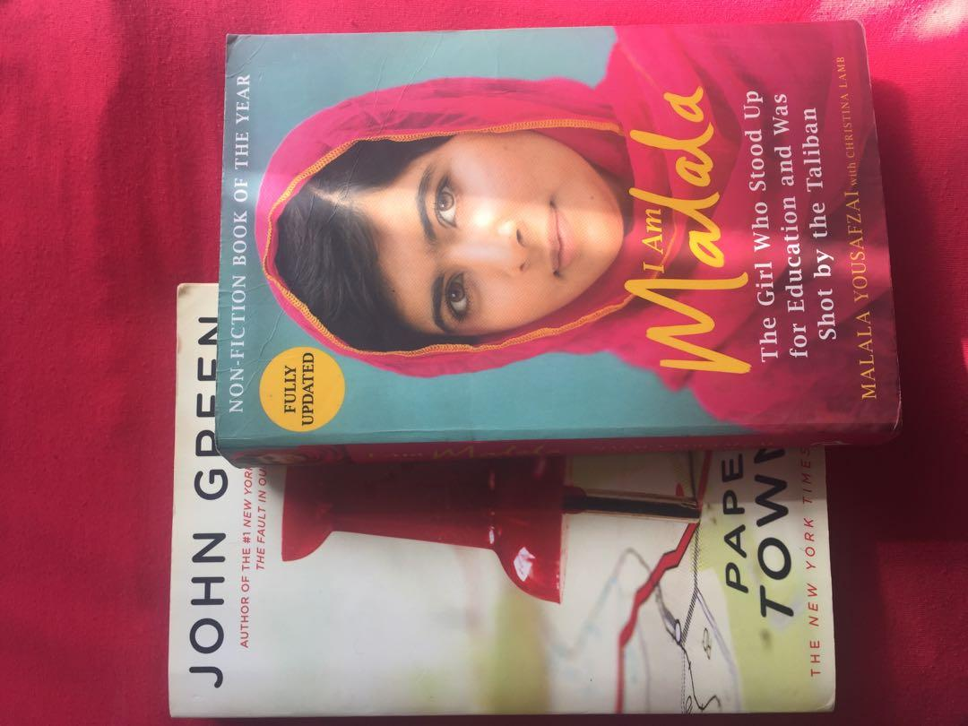 I am Malala and Paper Towns Books for sales