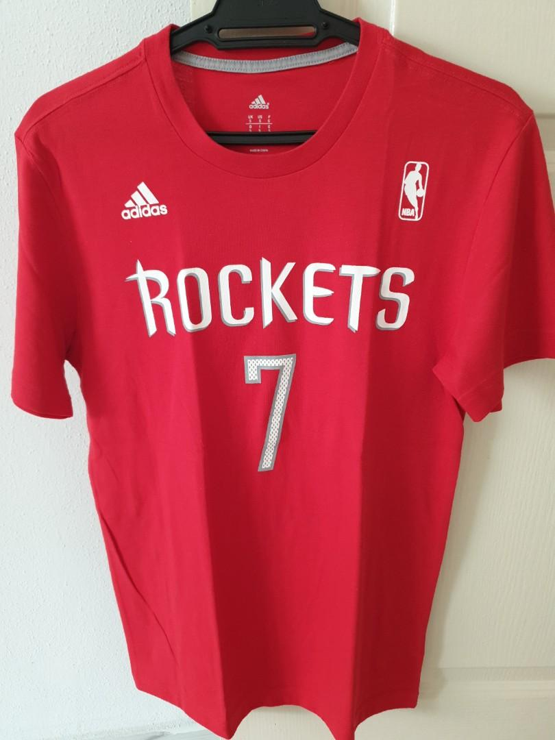 promo code 4e300 0ae8b Jeremy Lin Rockets T-shirt, Sports, Sports Apparel on Carousell