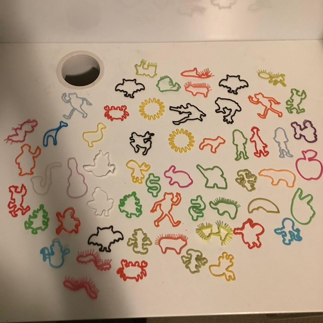 Lot of 57 silly bands collectible kids bracelets Muppets Christmas Halloween