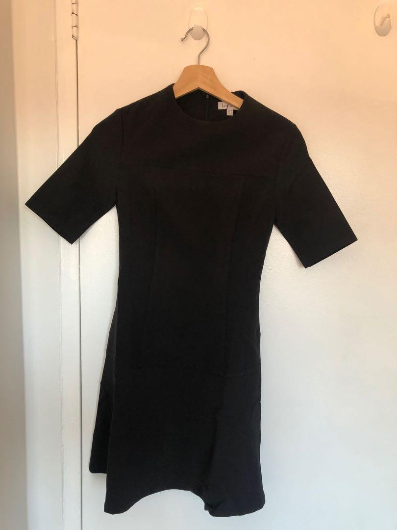 LOVEBONITO   Black Fluted Dress   Size XS (4)   NEW AND IN ORIGINAL PACKAGING!!