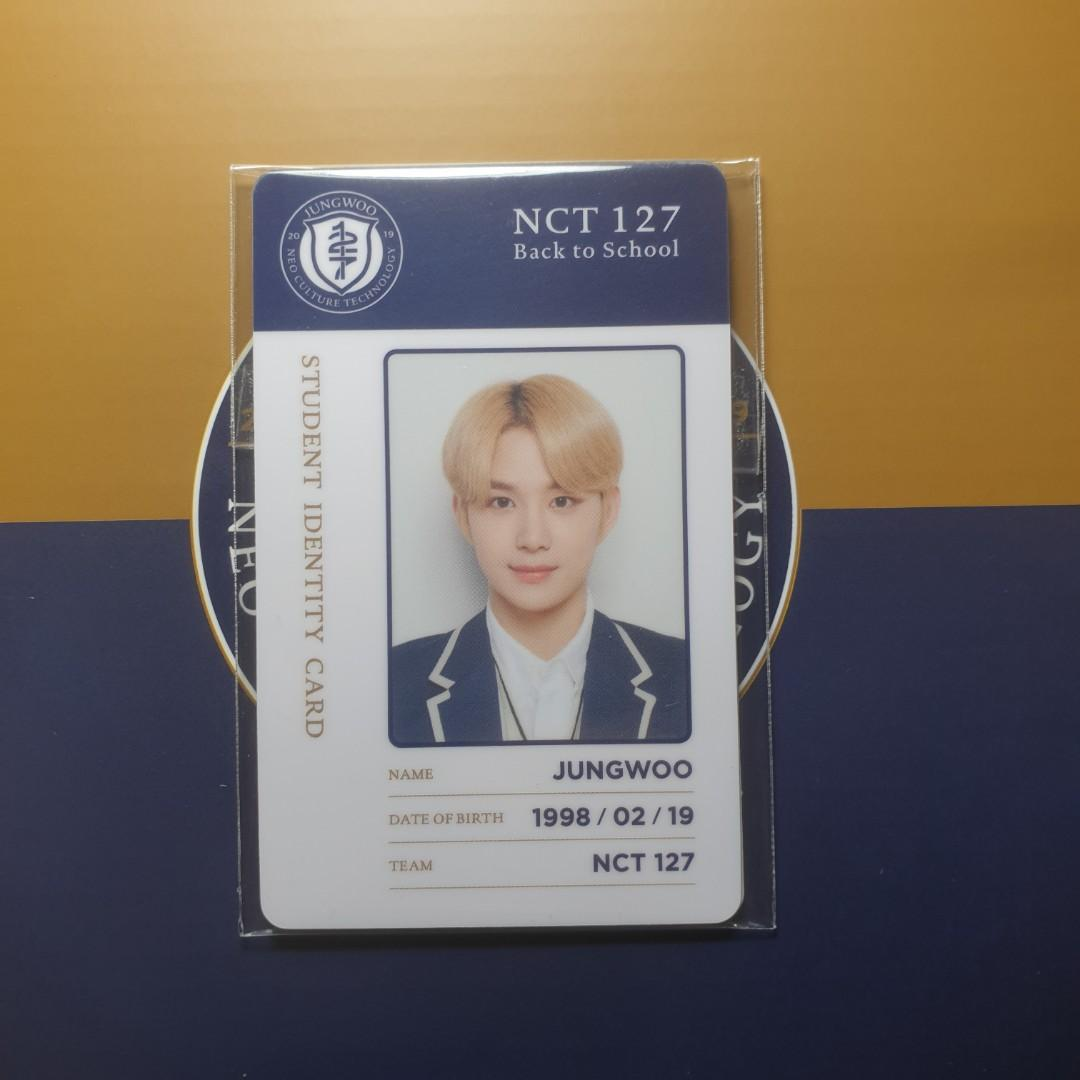 NCT 127 Jungwoo Back to School Kit ID Photo