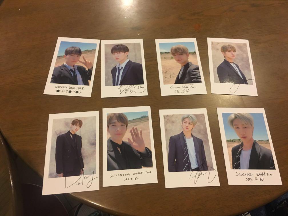 Ode To You polaroid photocards (DK, Seungkwan, The8, Joshua)