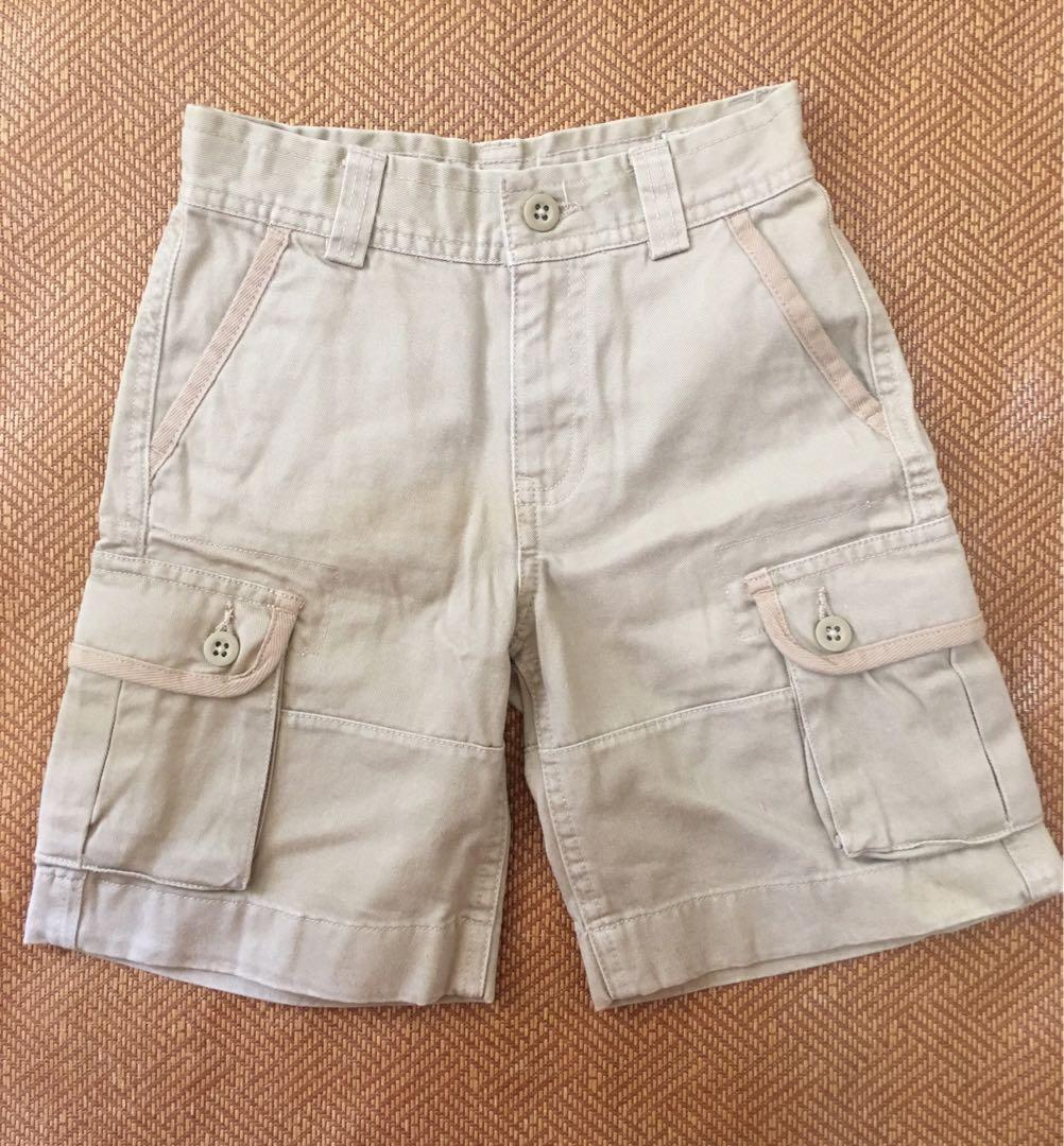 Polo小童斜布短褲