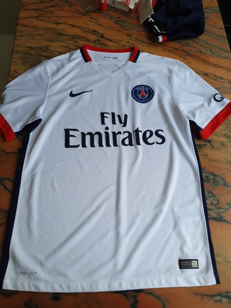 the best attitude e3295 76b16 PSG nike authentic away jersey 2015, Sports, Sports Apparel ...