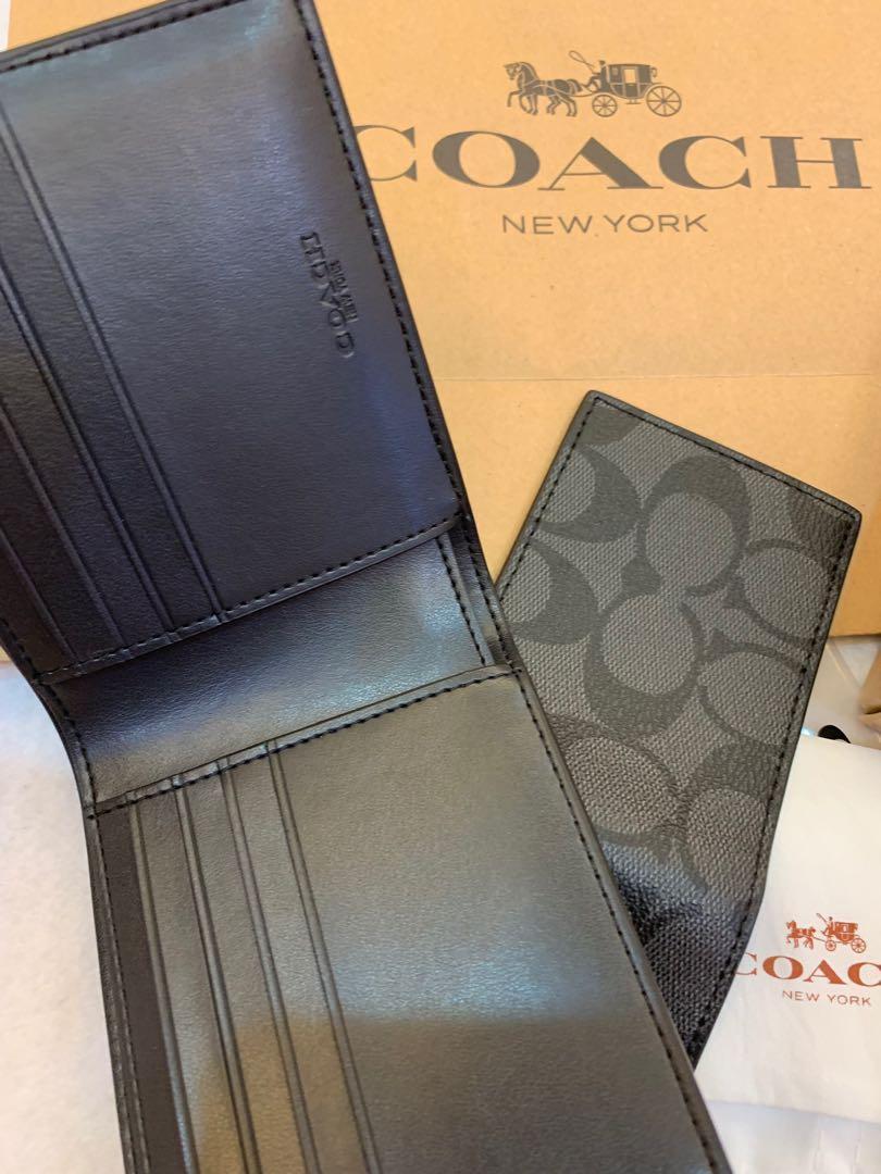 Ready Stock Authentic coach 68217 men purse wallet