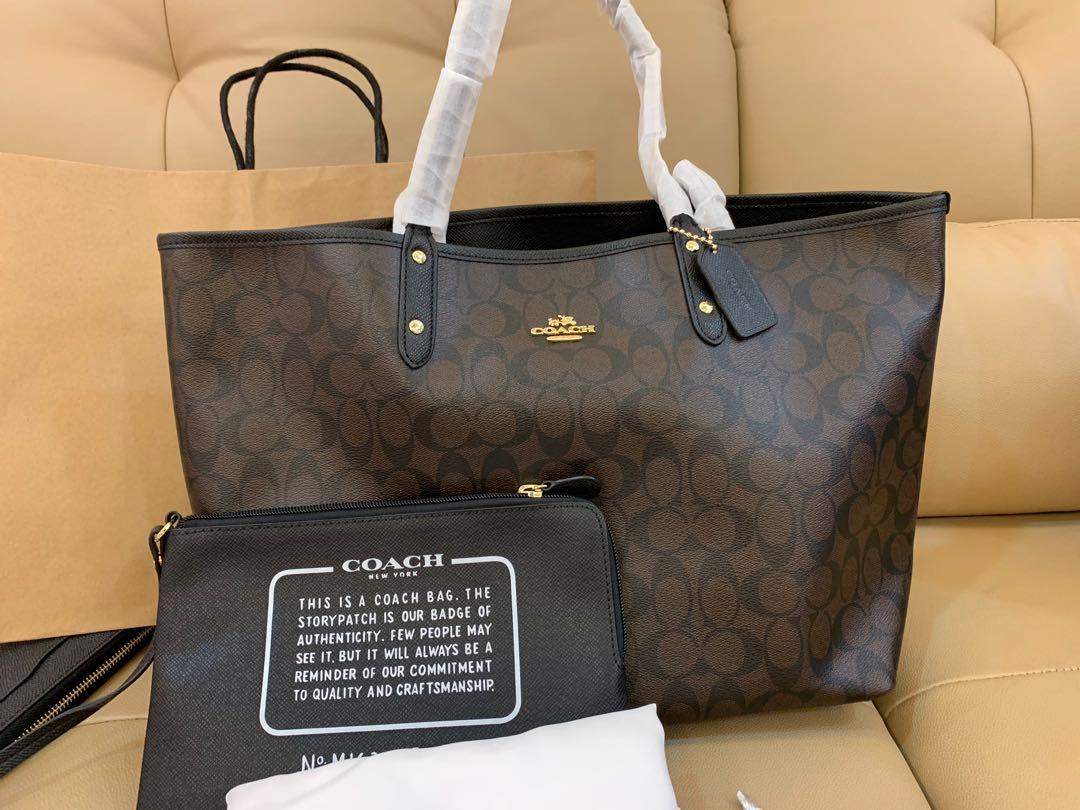 Ready Stock Authentic coach women reversible totes 36588 handbag