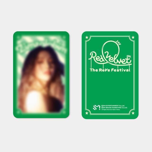 RED VELVET RANDOM PHOTOCARD- 'The ReVe Festival' Day 1