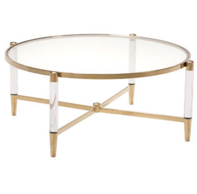 Round Acrylic Coffee Table Furniture, Round Acrylic Coffee Table