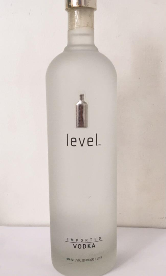 Sealed 1 Litre Level Vodka