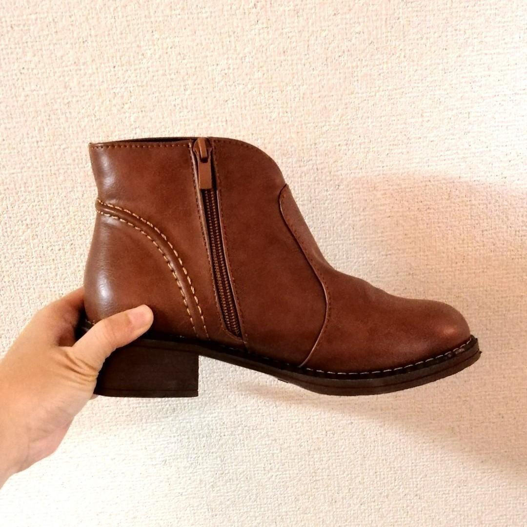[size 37] ankle heel boots in brown