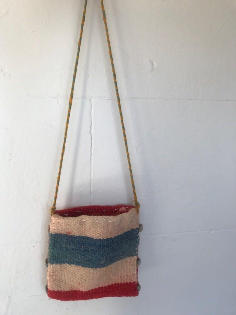 Two sided handbag brand new made from wool handmade