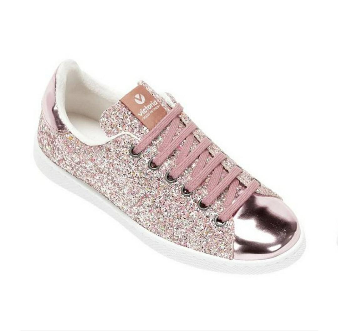 Victoria Glitter Shoes for Girls Size