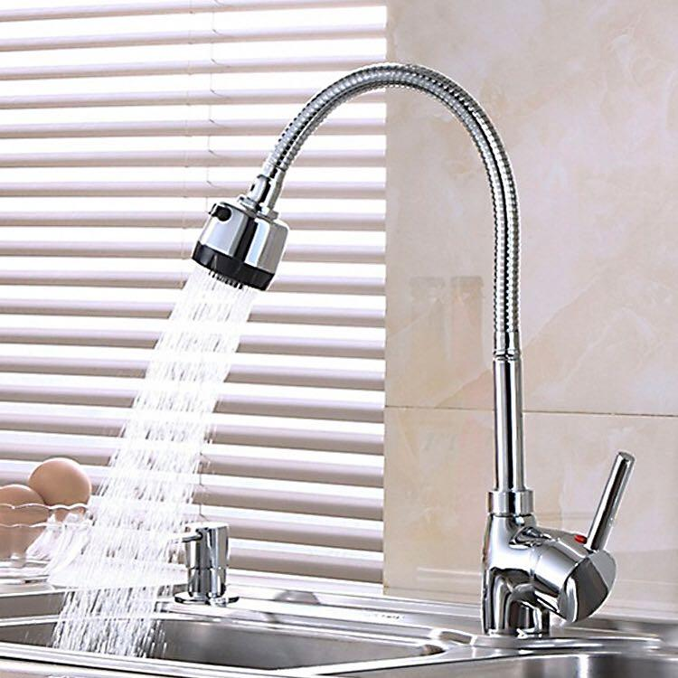 Water tap for basin stainless steel Kitchen Faucet hot and cold water