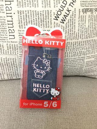 KITTY 手機套 iphone 5/6用 含螢幕擦拭布