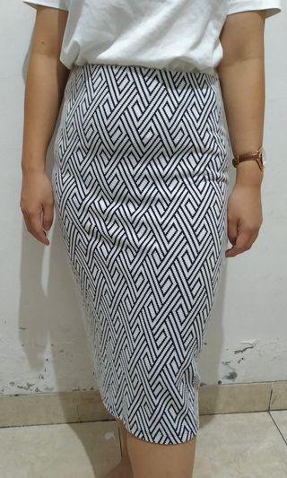 Pattern Pencil Skirt