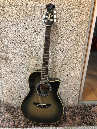 Morris Tornado 80's Japan Made Ovation Style Electric Acoustic Guitar