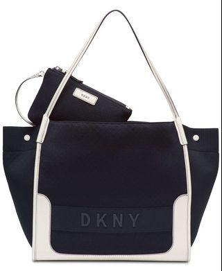 DKNY Ebony Mesh Tote Black & White Work Bag / Gym Bag