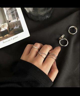 💫ins冷淡風4件套戒指💫 韓系 【A02】