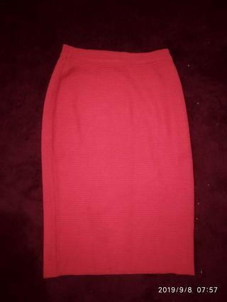 Donna Red Pencil Skirt