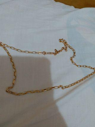 italy 585 two color necklace