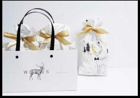 Christmas Gift Bag / Candy Bag / Biscuit Bag