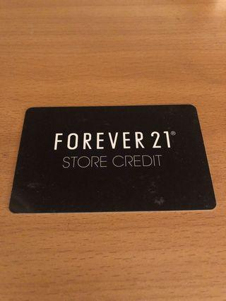 Forever 21 store credit/gift card