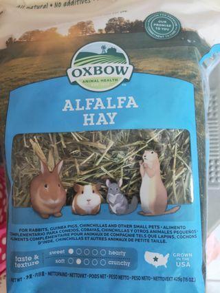 Oxbow alfafa hay selling at $5.