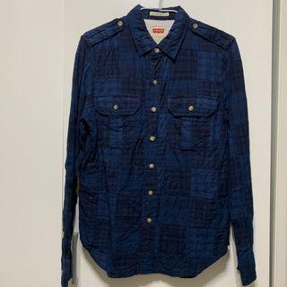Levi's Shirt 休閒  格紋 拼接 襯衫