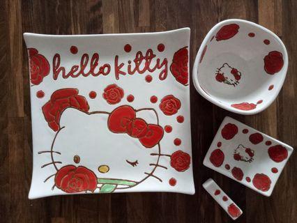 Hello kitty bento set red